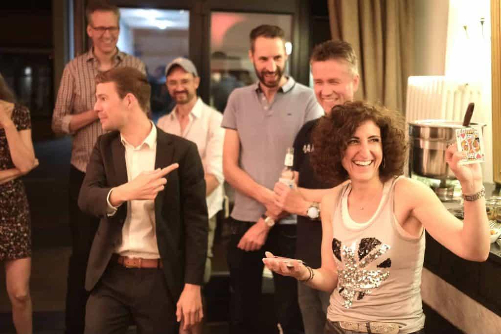 Zauberer Dominik Fontes mit begeistertem Publikum